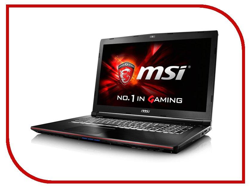 Ноутбук MSI GE72 6QC-066RU Black 9S7-179554-066 Intel Core i5-6300HQ 2.3 GHz/4096Mb/1000Gb/DVD-RW/nVidia GeForce GTX 960M 2048Mb/Wi-Fi/Bluetooth/Cam/17.3/1920x1080/Windows 10 64-bit 331123