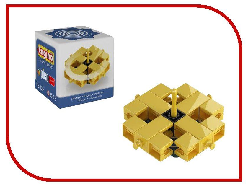 Игрушка Конструктор Engino PS03PICO Spinners Волчок Blue