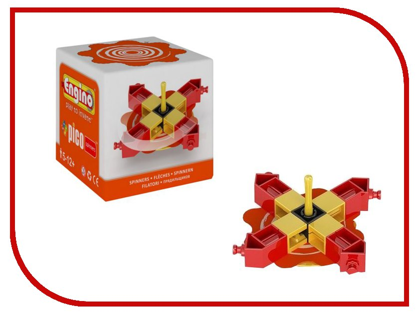 Игрушка Конструктор Engino PS04PICO Spinners Волчок Red<br>