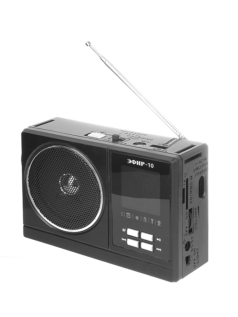 Фото - Радиоприемник Сигнал electronics Эфир 10 Black радиоприемник сигнал electronics рп 227