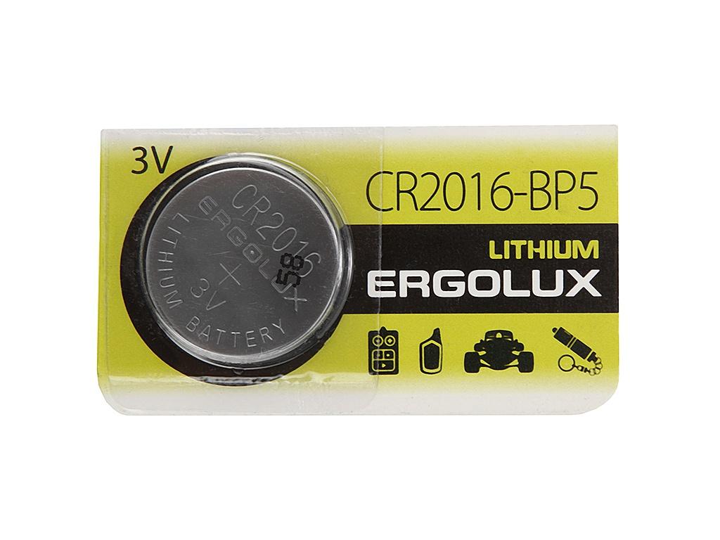 Батарейка CR2016 - Ergolux BL-5 (1 штука)
