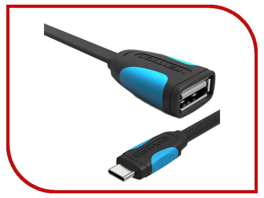 Аксессуар Vention USB Type C M / USB 2.0 AF 1m Black VAS-A50-B010<br>