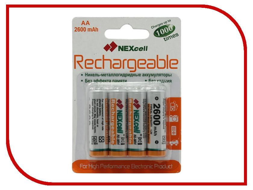 Аккумулятор AA - NEXcell 2600 mAh Ni-MH (4 штуки) AA2600/4pack<br>