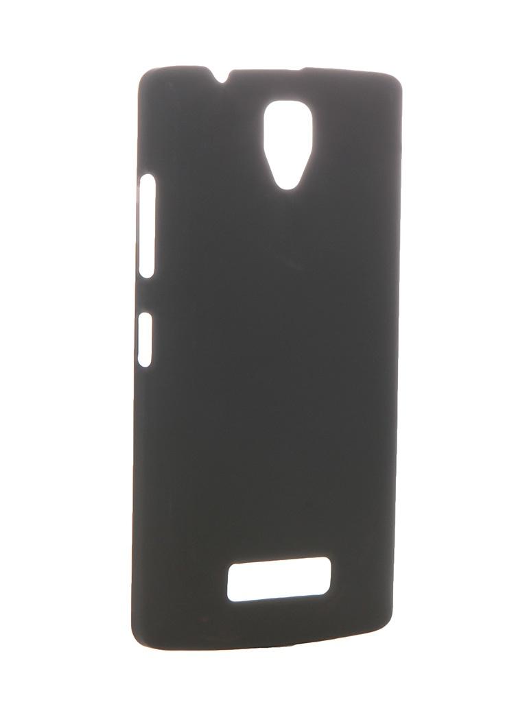Аксессуар Чехол-накладка Lenovo A2010 SkinBOX 4People Black T-S-L2010-002 + защитная пленка<br>
