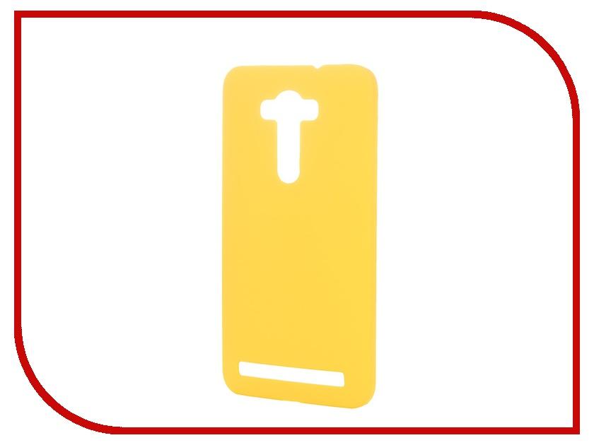 Аксессуар Чехол-накладка ASUS Zenfone Laser 2 ZE550KL SkinBOX 4People Yellow T-S-AZZE550KL-002 + защитная пленка<br>