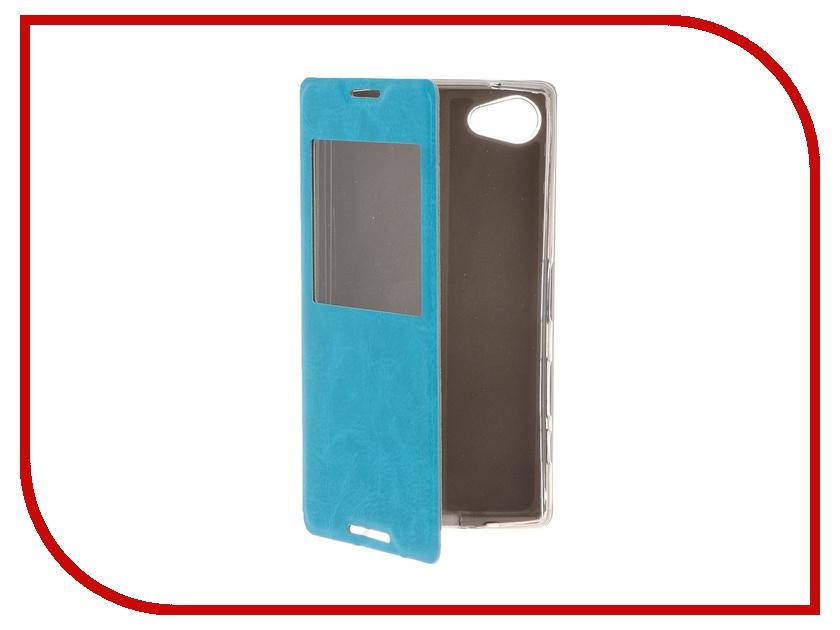 Аксессуар Чехол Sony Xperia Z5 Compact SkinBOX Lux AW Blue T-S-SZ5C-004<br>