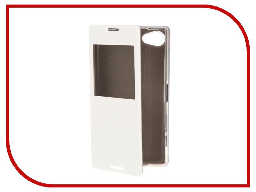 Аксессуар Чехол Sony Xperia Z5 Compact SkinBOX Lux AW White T-S-SZ5C-004<br>