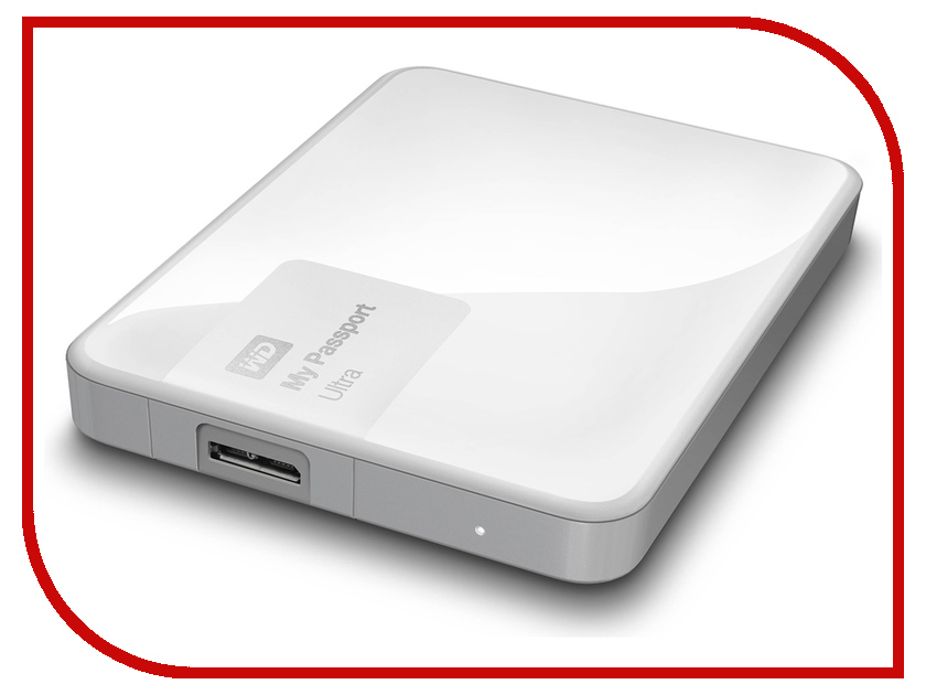 Жесткий диск Western Digital My Passport Ultra 500Gb White WDBBRL5000AWT-EEUE