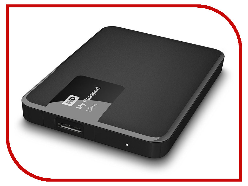 Жесткий диск Western Digital My Passport Ultra 1Tb Black WDBDDE0010BBK-EEUE