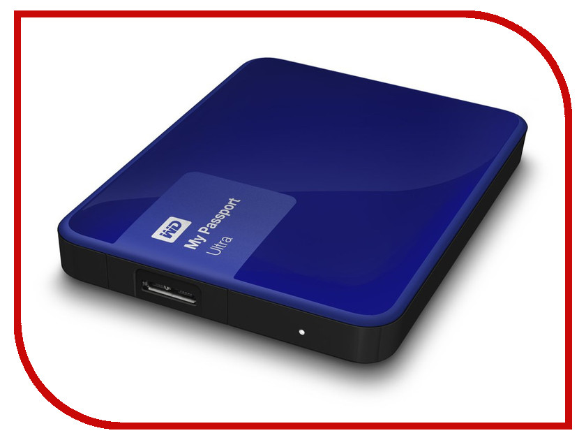 Жесткий диск Western Digital My Passport Ultra 1Tb Blue WDBDDE0010BBL-EEUE
