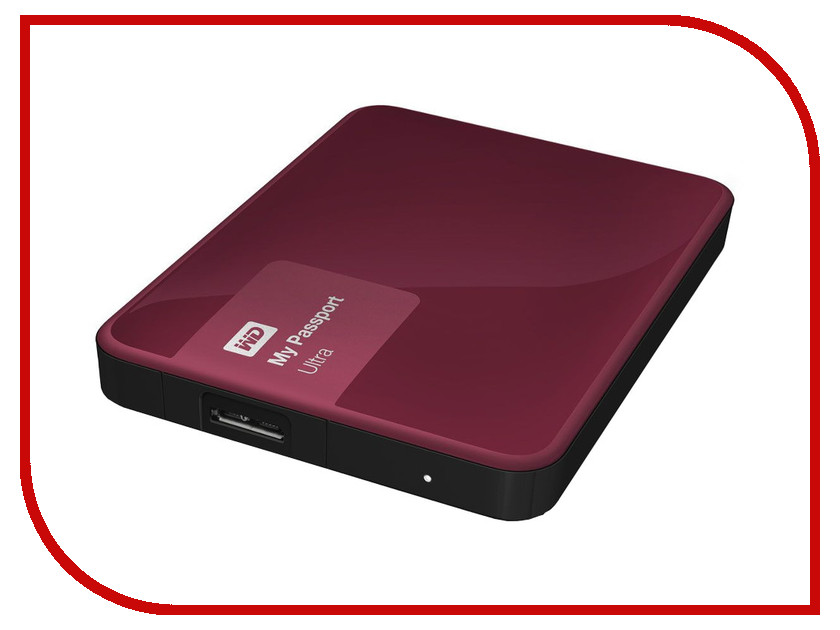 Жесткий диск Western Digital My Passport Ultra 1Tb Berry WDBDDE0010BBY-EEUE