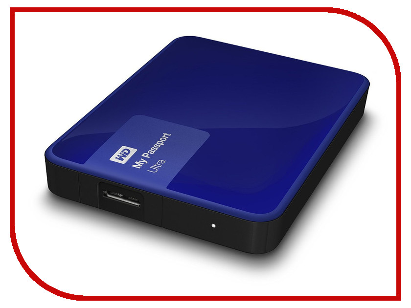 Жесткий диск Western Digital My Passport Ultra 2Tb Blue WDBNFV0020BBL-EEUE