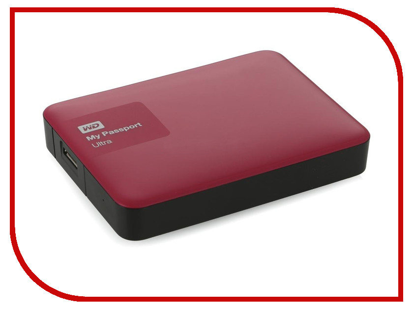 Жесткий диск Western Digital My Passport Ultra 2Tb Berry WDBNFV0020BBY-EEUE<br>