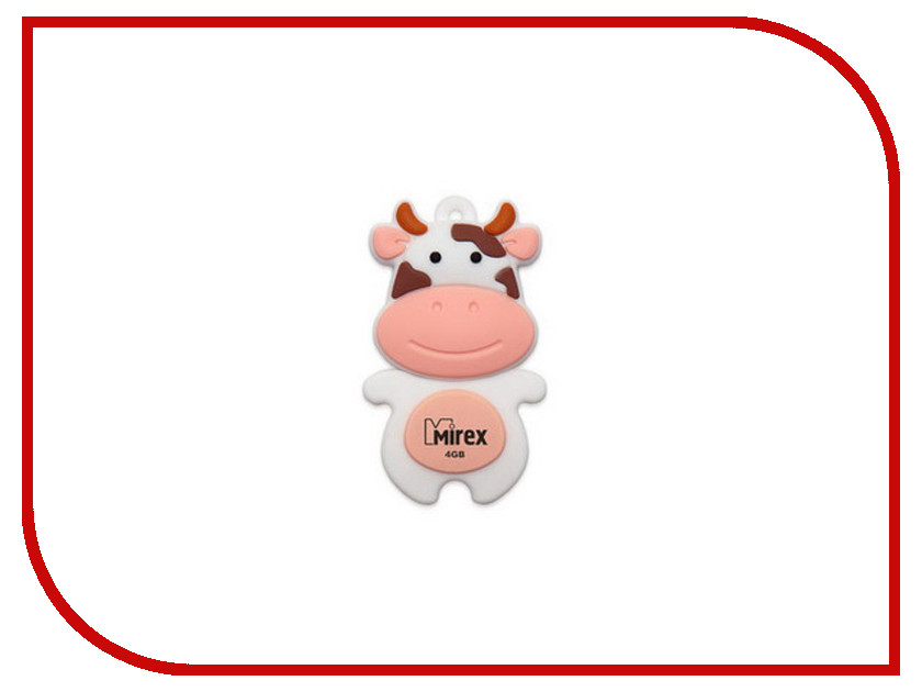 USB Flash Drive 4Gb - Mirex Cow Peach 13600-KIDCWP04