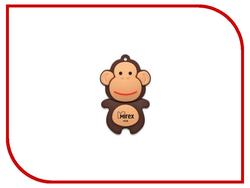 USB Flash Drive 4Gb - Mirex Monkey Brown 13600-KIDMKB04