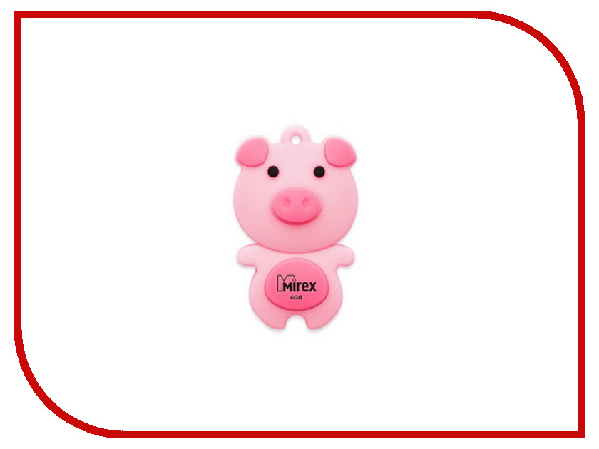USB Flash Drive 4Gb - Mirex Pig Pink 13600-KIDPIP04<br>