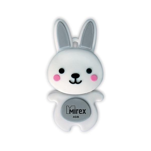 USB Flash Drive 4Gb - Mirex Rabbit Grey 13600-KIDRBG04<br>