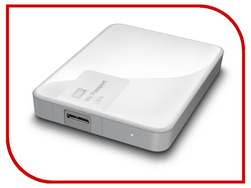 Жесткий диск Western Digital My Passport Ultra 2Tb White WDBNFV0020BWT-EEUE