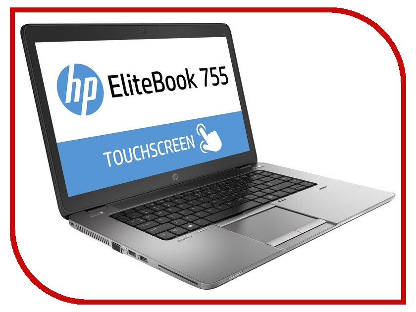 Ноутбук HP EliteBook 755 G2 Silver-Black Metal F1Q26EA (AMD A10 Pro 7350B 2.1 GHz/8192Mb/256Gb SSD/No ODD/AMD Radeon R6/LTE/3G/Wi-Fi/Bluetooth/Cam/15.6/1920x1080/Windows 8 64-bit)<br>