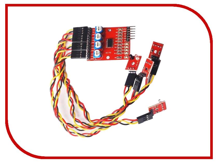 Конструктор Конструктор Радио КИТ RA032 - датчик обхода препятствий конструктор блок гальванической развязки для программатора avr isp радио кит rc230