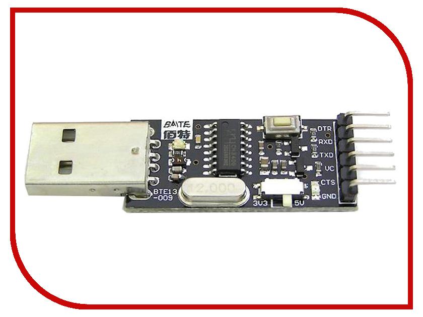 Переходник USB в COM-порт TTL/CMOS Радио КИТ KIT-CH340G RC002<br>