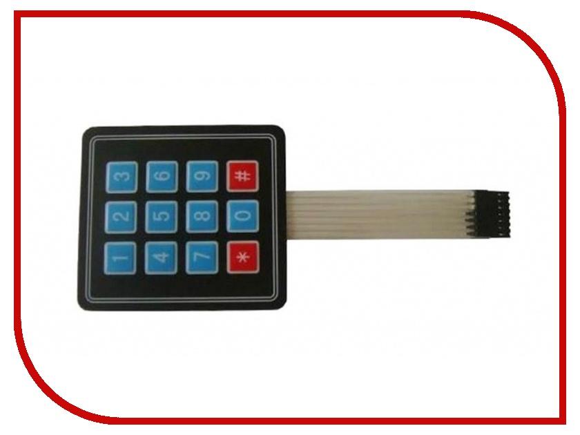Игрушка Конструктор Радио КИТ RC003 - миниатюрная матричная пленочная клавиатура 3х4