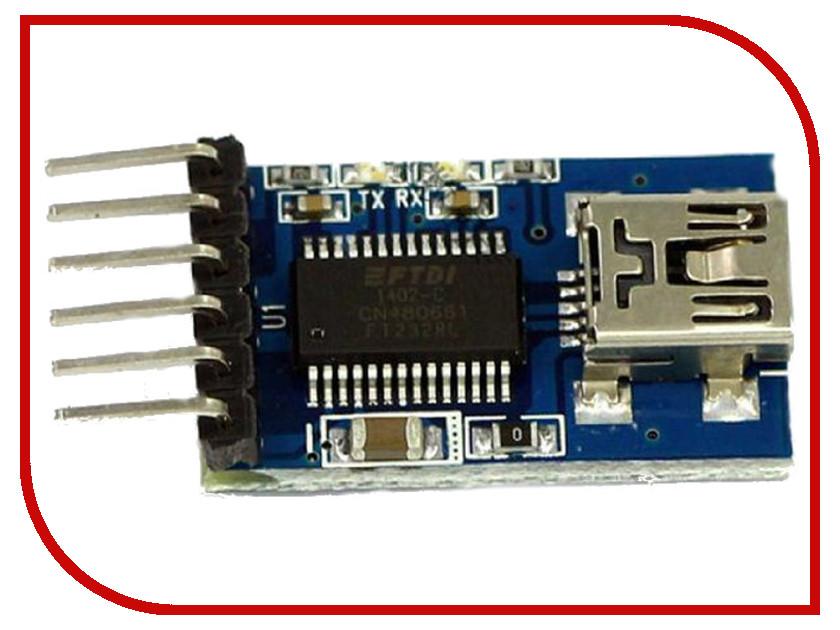 Игрушка Конструктор Радио КИТ RC019 - модуль преобразователя интерфейсов miniUSB в TTL<br>