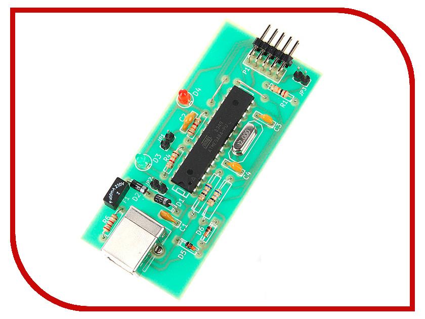 Конструктор Конструктор Радио КИТ RC119M - программатор для Atmel USBasp конструктор блок гальванической развязки для программатора avr isp радио кит rc230