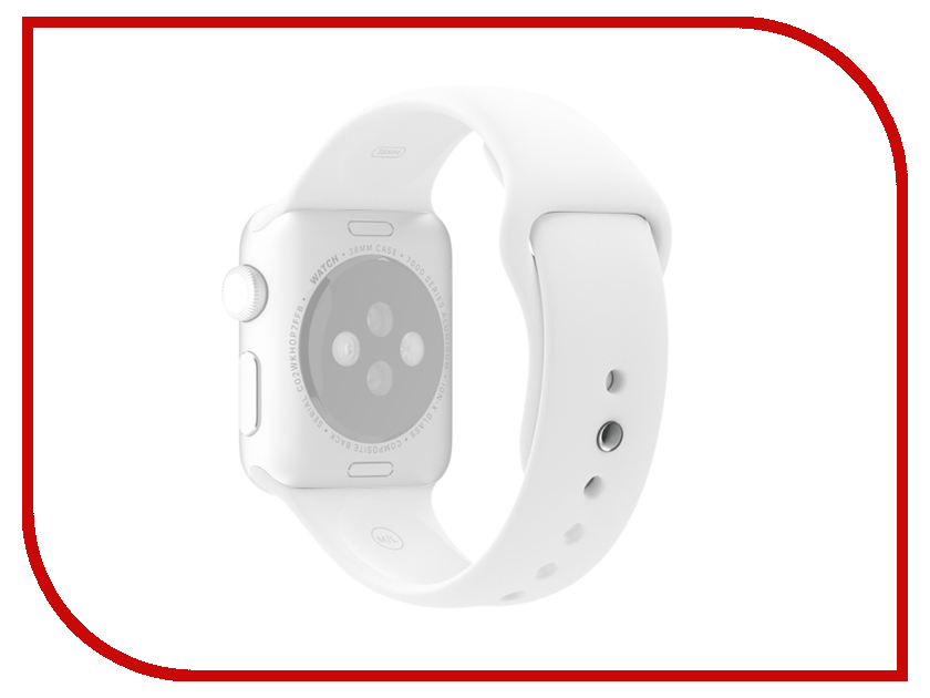 Аксессуар Ремешок APPLE Watch 38mm Activ Sport Band White 54324 аксессуар ремешок apple watch 38mm activ sport band white 54324