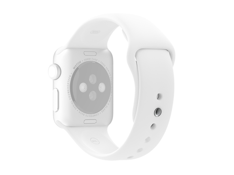 Аксессуар Ремешок APPLE Watch 38mm Activ Sport Band White 54324