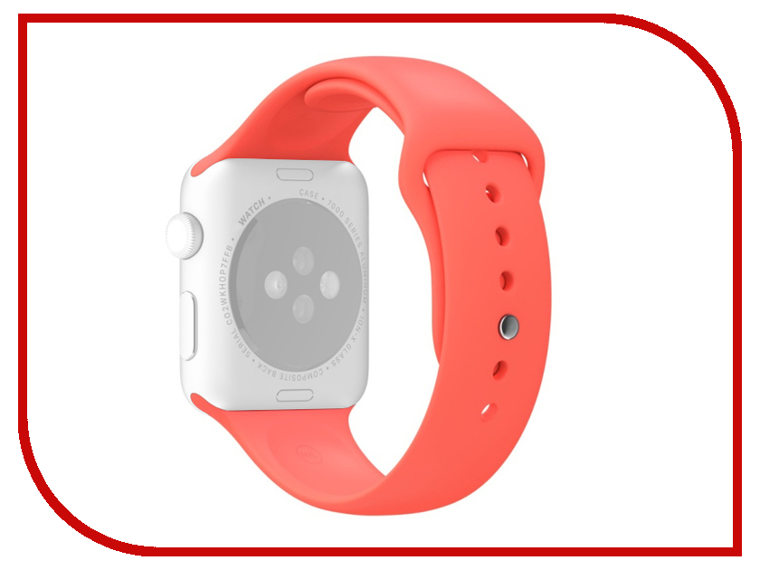 Аксессуар Ремешок APPLE Watch 38mm Activ Sport Band Red 54323 аксессуар ремешок apple watch 38mm activ sport band red 54323