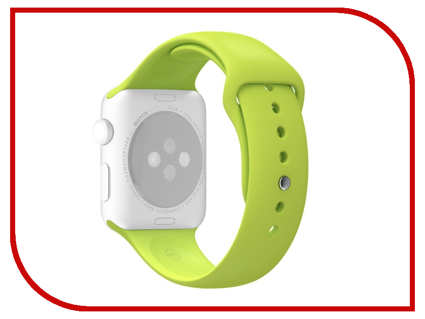 Аксессуар Ремешок APPLE Watch 38mm Activ Sport Band Green 54322 аксессуар ремешок apple watch 38mm activ sport band red 54323