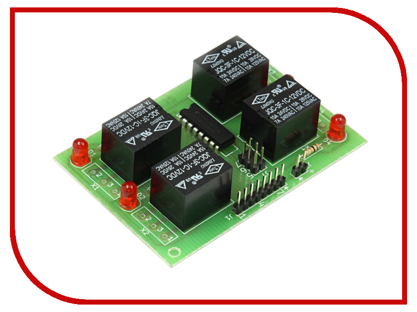 Конструктор Блок реле Радио КИТ RA232 конструктор блок гальванической развязки для программатора avr isp радио кит rc230