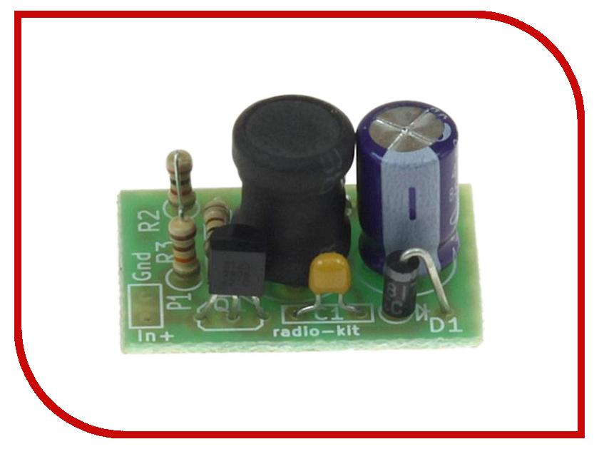 Конструктор Преобразователь напряжения Радио КИТ RP289 конструктор конструктор радио кит rp101 стабилизатор напряжения 5 в