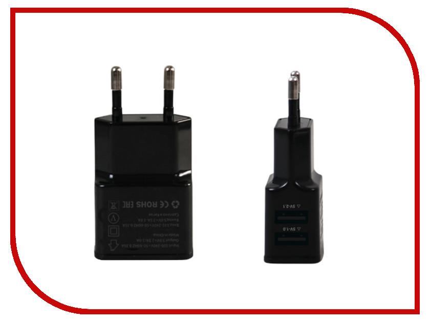 цена Зарядное устройство Ainy 2xUSB 1A / 2.1A Black EA-031A