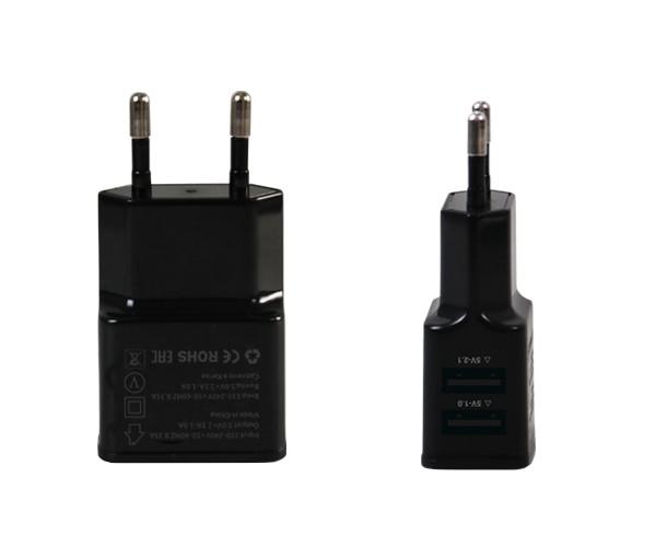 Зарядное устройство Ainy 2xUSB 1A / 2.1A Black EA-031A