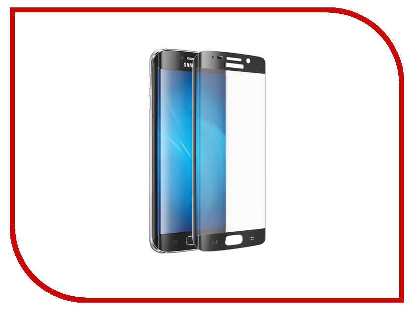 Аксессуар Закаленное стекло Samsung G920F Galaxy S6 EDGE DF sColor-01 Black<br>