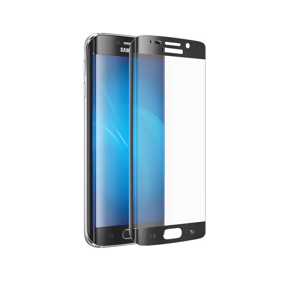 Аксессуар Закаленное стекло Samsung Galaxy S6 EDGE DF sColor-01 Black