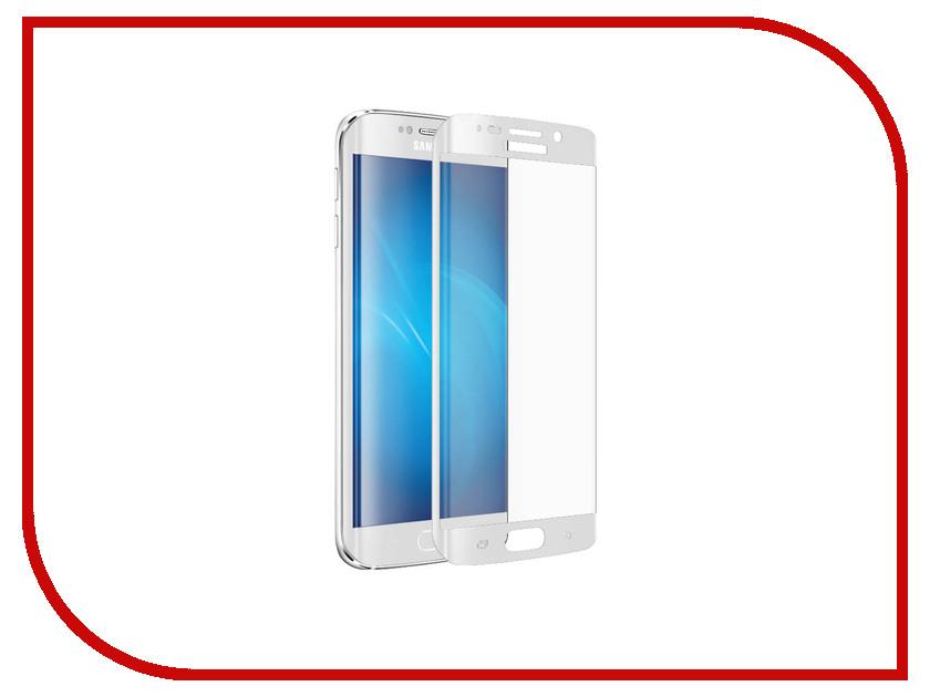 Аксессуар Закаленное стекло Samsung G920F Galaxy S6 EDGE DF sColor-01 White<br>