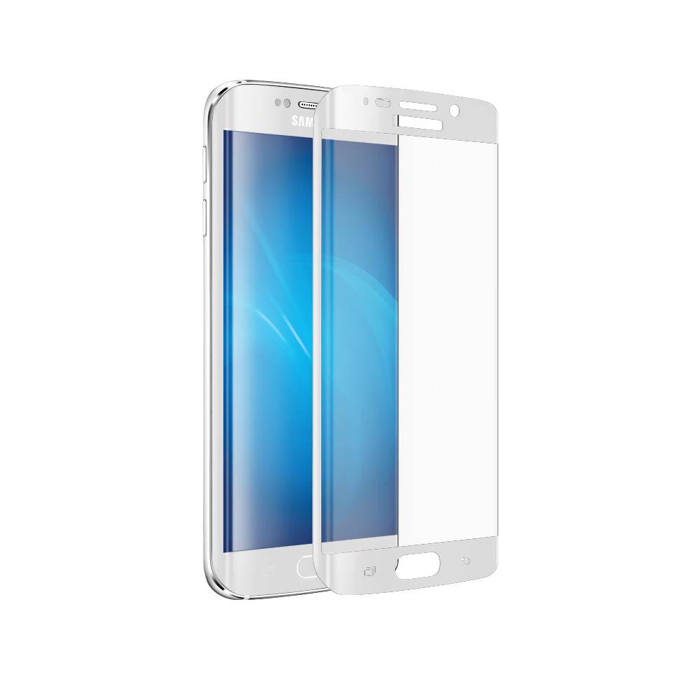 Аксессуар Закаленное стекло Samsung Galaxy S6 Edge+ DF sColor-02 White