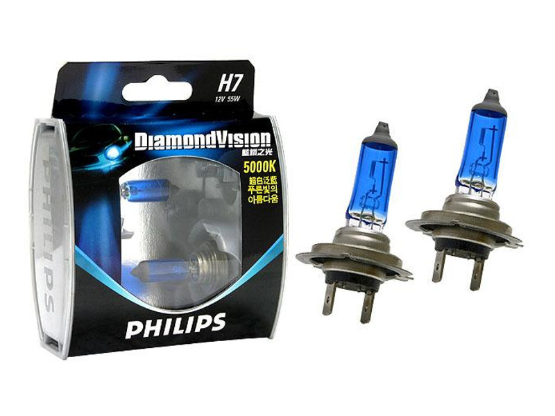 Лампа Philips Diamond Vision H7 55W 5000K 12972DVS2 (2 штуки)