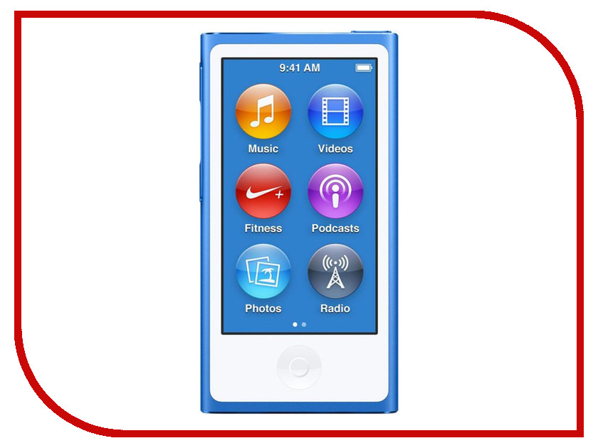 Плеер APPLE iPod Nano - 16Gb Blue MKN02RU/A<br>