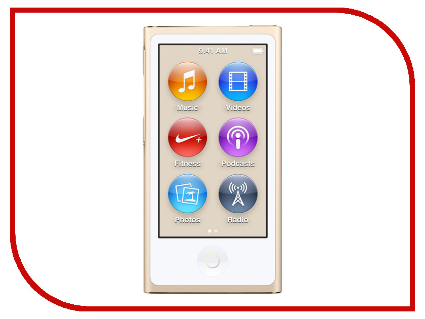 Плеер APPLE iPod Nano - 16Gb Gold MKMX2RU/A<br>