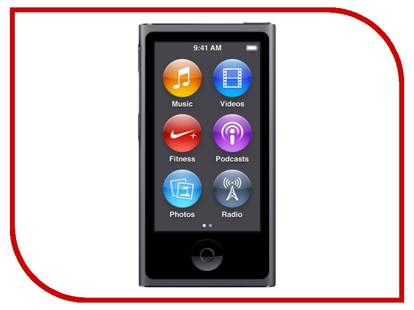 Плеер APPLE iPod Nano - 16Gb Space Grey MKN52RU/A<br>
