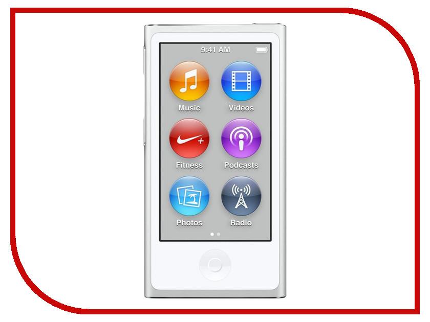 Плеер APPLE iPod Nano - 16Gb White-Silver MKN22RU/A