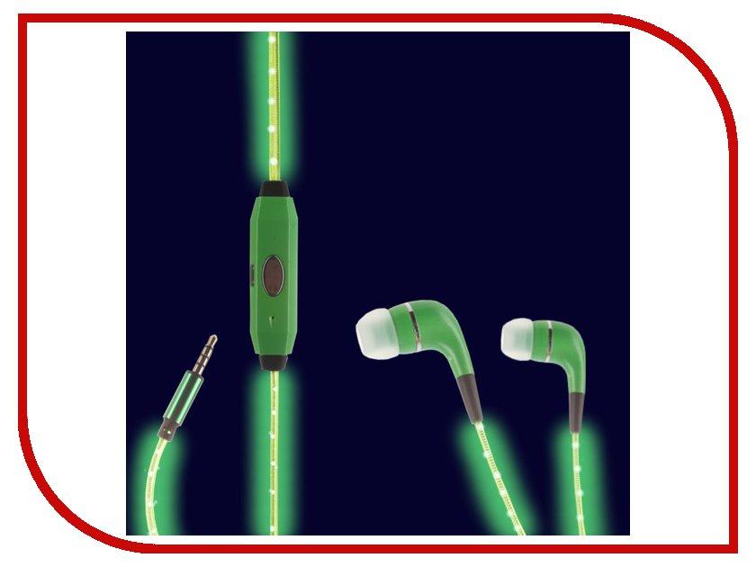 Наушники Megamind Светящиеся наушники LED Green плащ дождевик megamind m5870 little sweet р l green