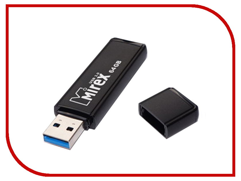 USB Flash Drive 64Gb - Mirex Rocket Dark 13600-FMUROD64