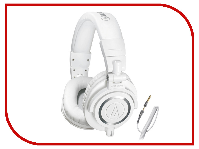 Audio-Technica ATH-M50X White гарнитура audio technica ath sr5bt wt white