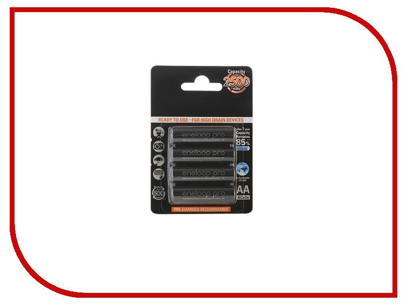 Аккумулятор AA - Panasonic Eneloop Pro 2500 mAh (4 штуки) BK-3HCDE/4BE 83427