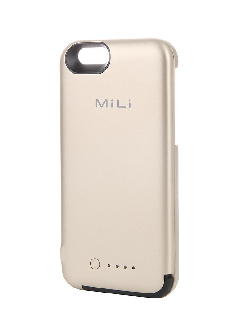 Аксессуар Чехол-аккумулятор MiLi Power Spring 6 HI-C35 для APPLE iPhone 6 Gold